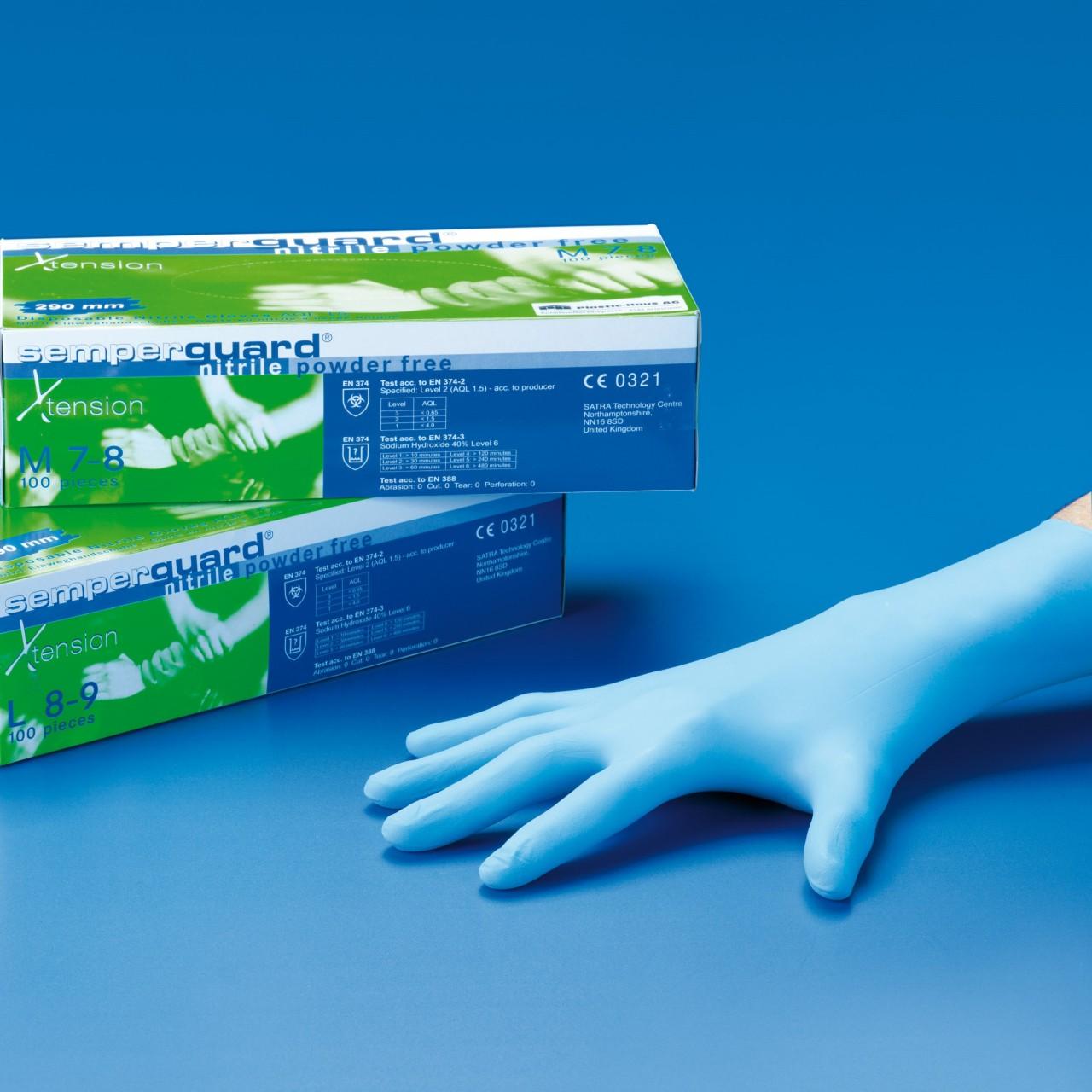 Nitril-Handschuhe ungepudert  290 mm lang