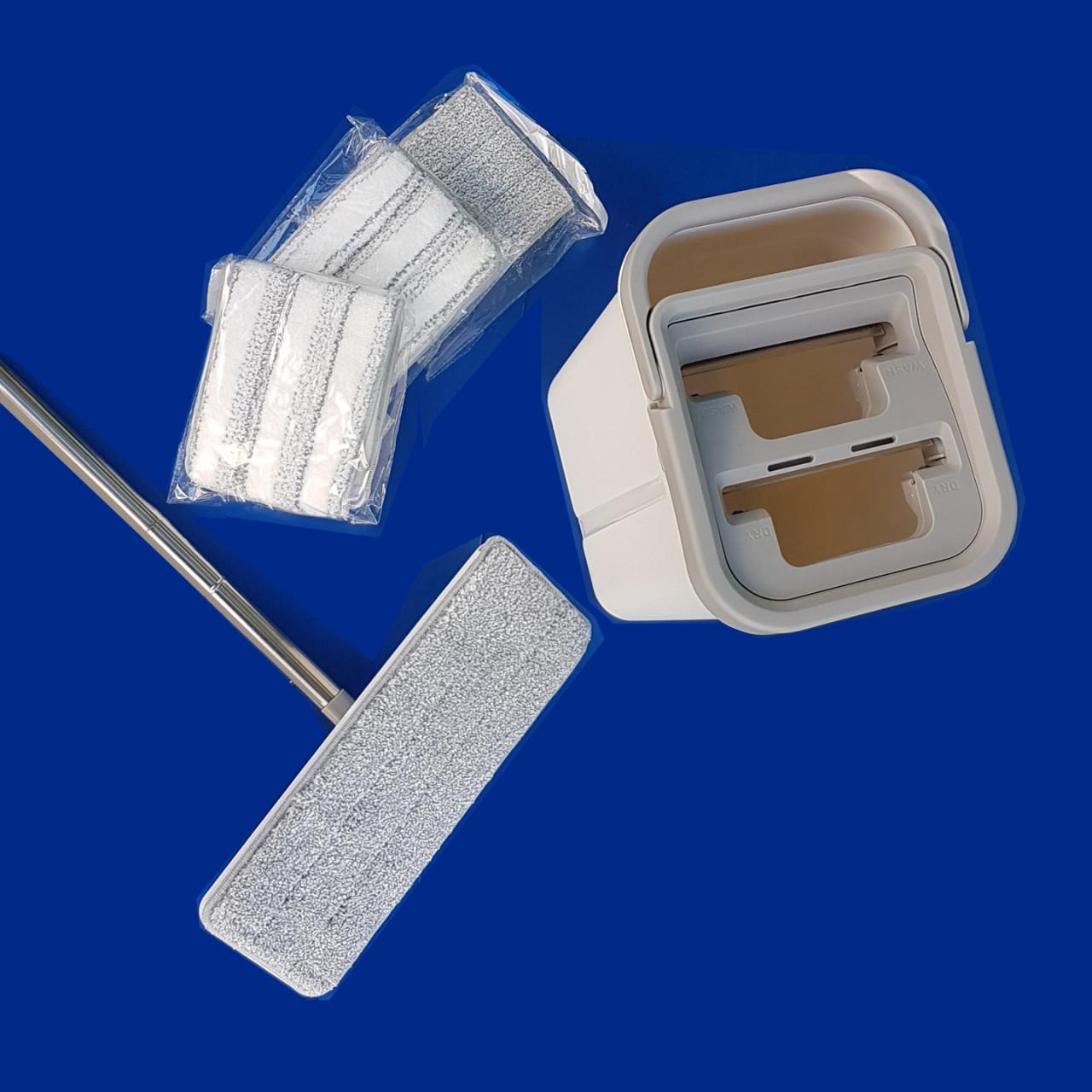 Reinigungs-System CLEAN |inkl. Stiel und 4 Microfaserbezüge