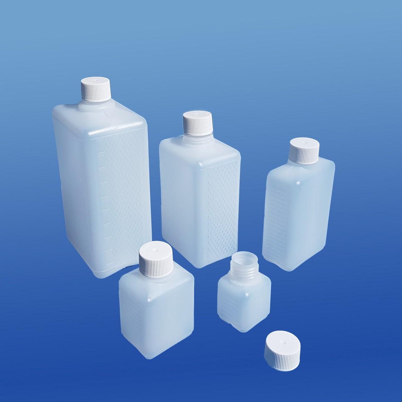 Viereck-Flaschen 50 - 1000 ml |mit Schraubverschluss
