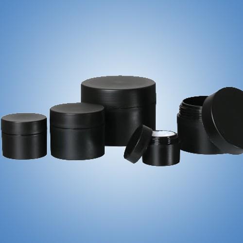Doppelwandige Kosmetik-Dosen POP |in schwarz
