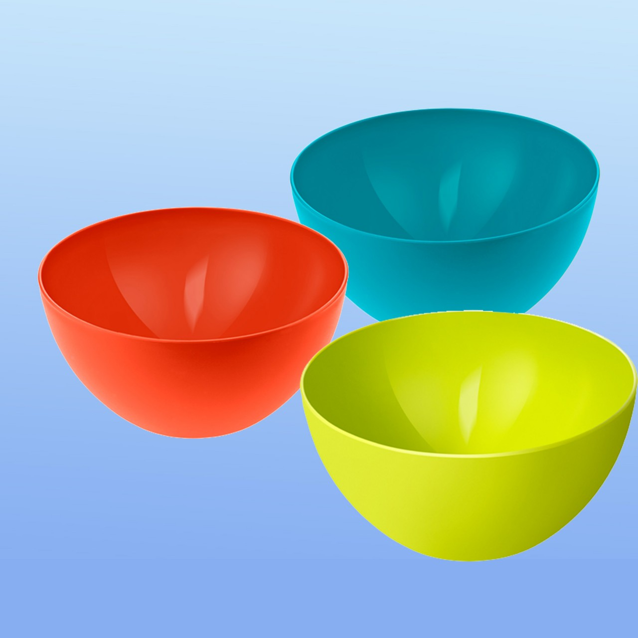 Schüssel farbig |3 Liter, rund