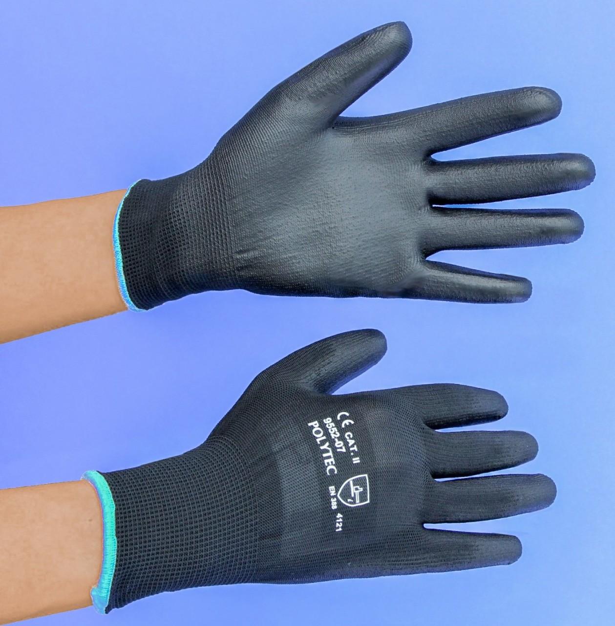 Schutzhandschuhe |POLYTEC schwarz