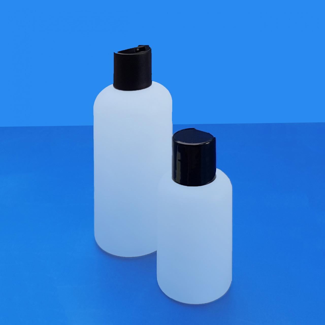 Rundflasche natur 100 / 250 ml |mit Disctop-Verschluss