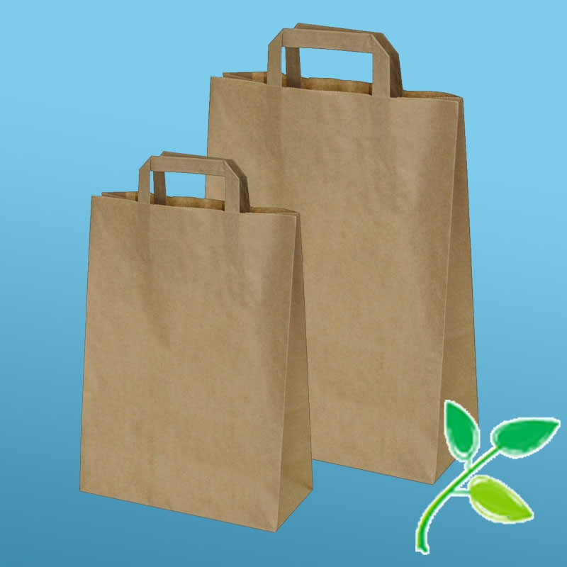 Papier-Tragtaschen (kompostierbar)