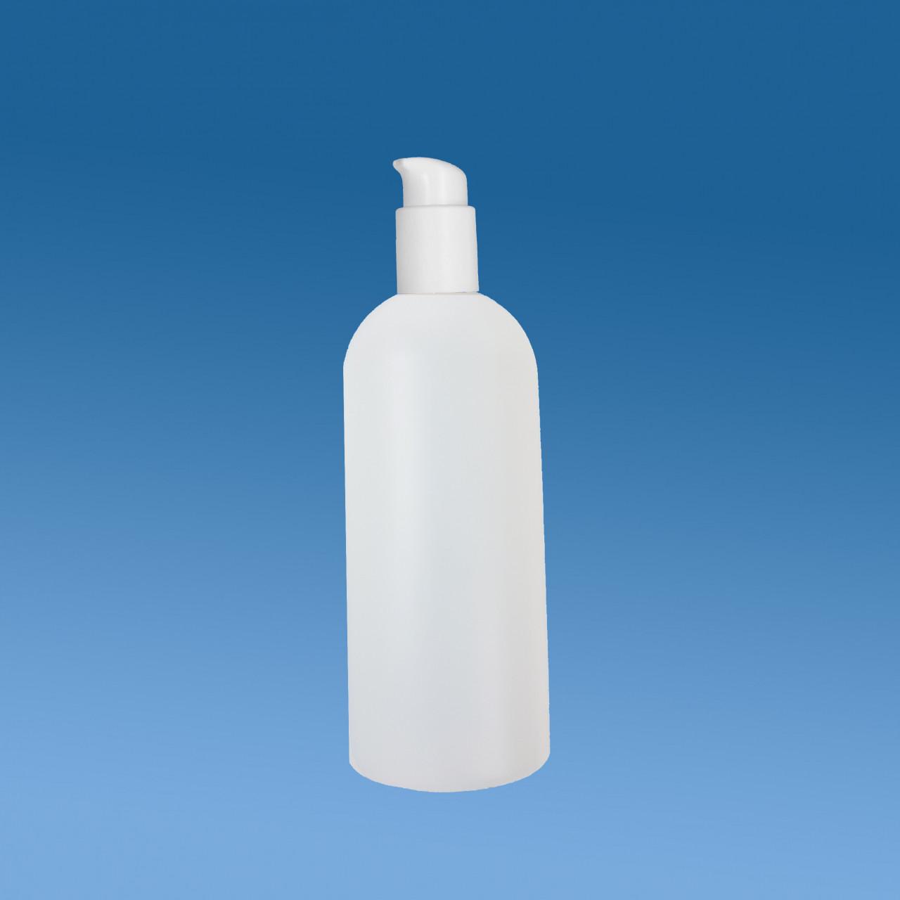 Rundflasche 500 ml |mit Lotion-Pumpen-Aufsatz
