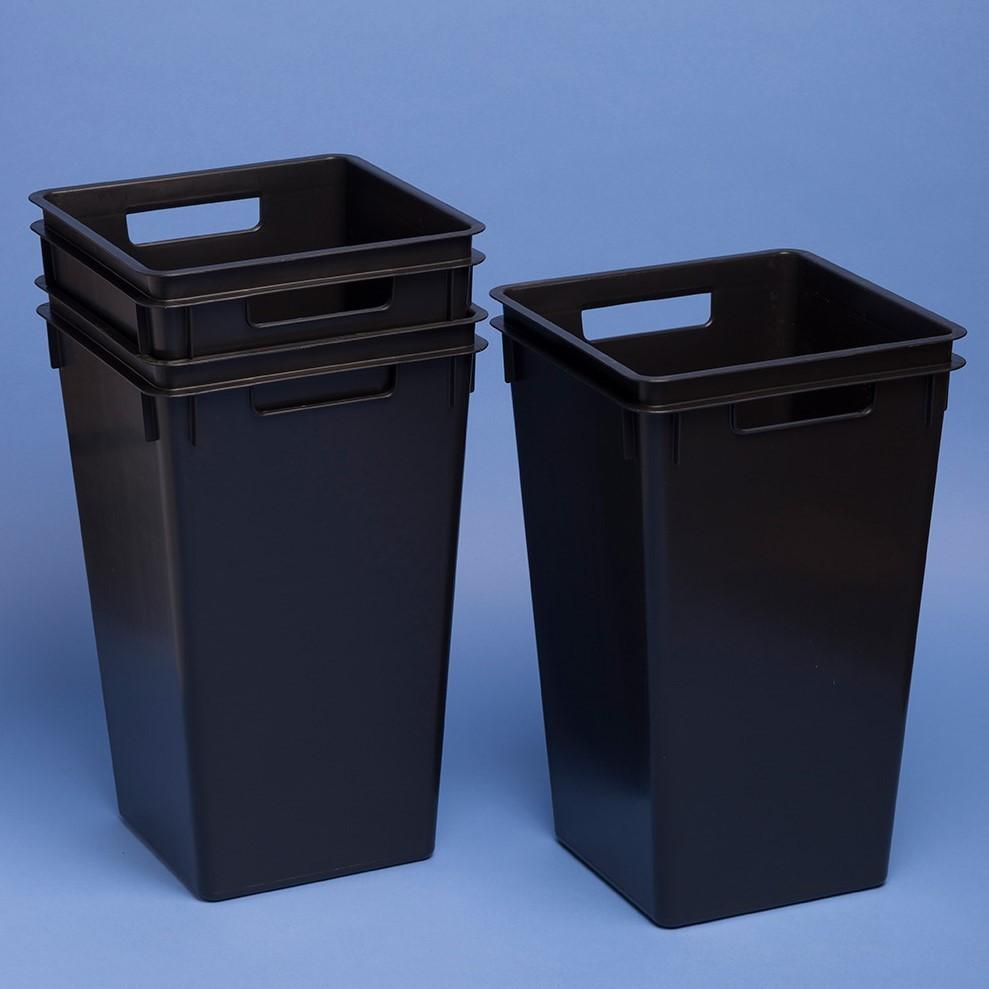 Viereck-Behälter konisch |40 Liter, 330 x 330 x 530 mm