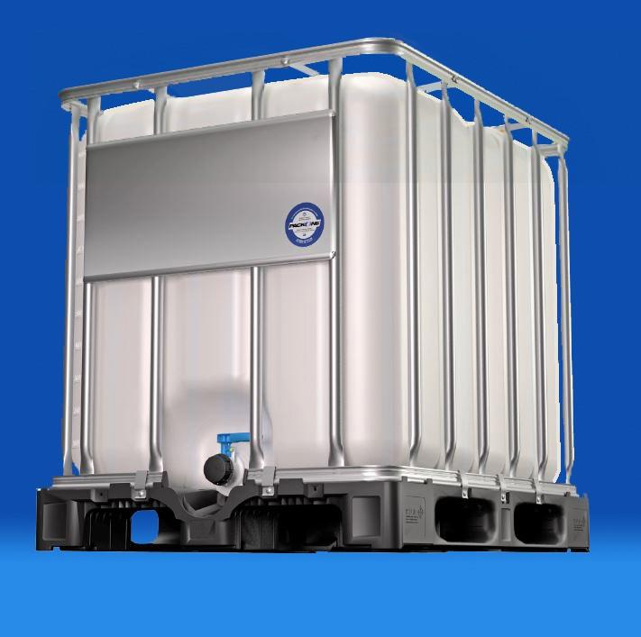 Paletten-Container (IBC) |auf Kunststoffpalette