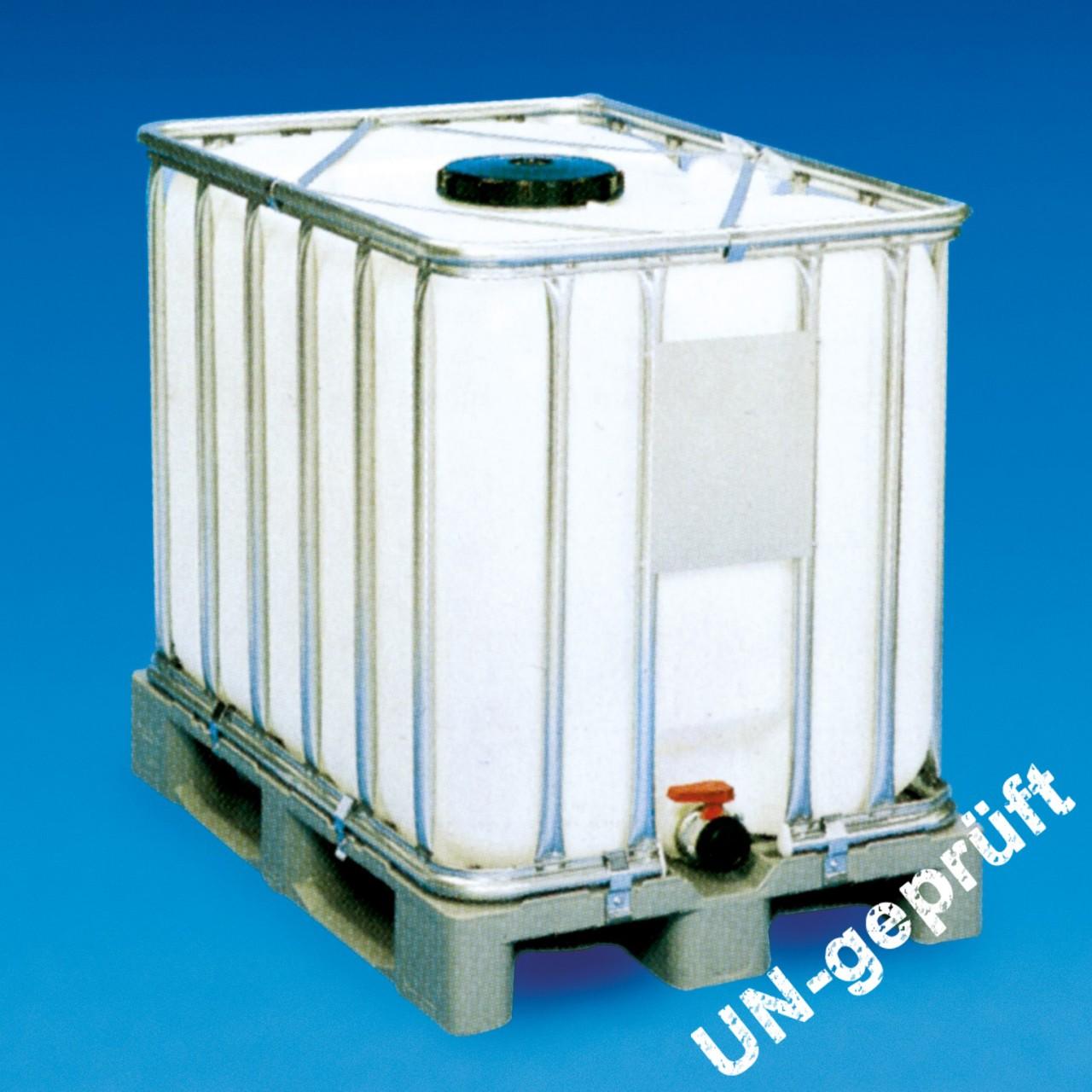 Paletten-Container |auf Kunststoffpalette, UN-Zulassung