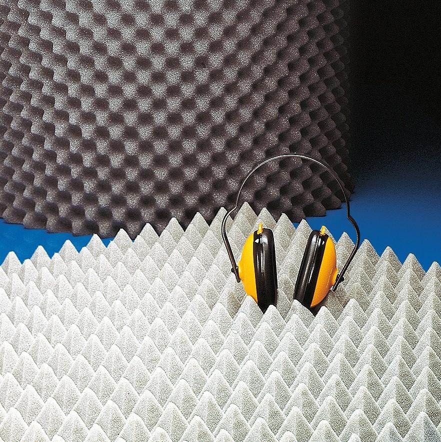 Schalldämmplatten |Noppen-/Pyramidenprofil