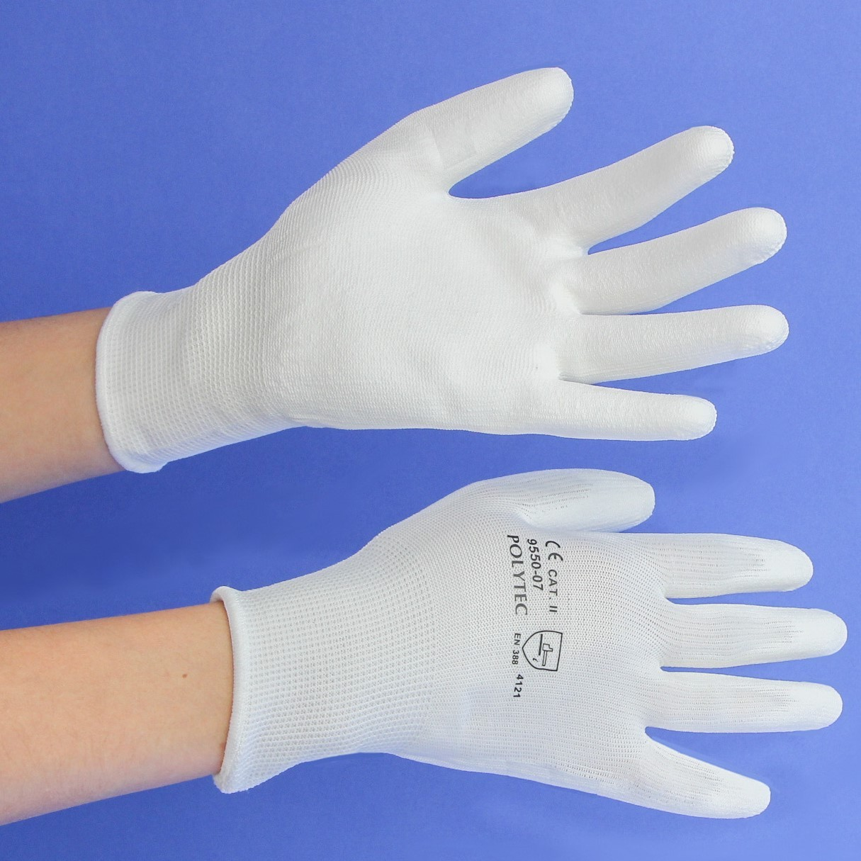 Schutzhandschuhe |POLYTEC weiss