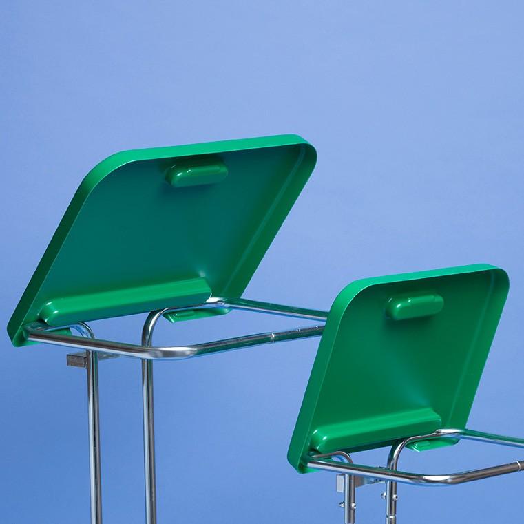 Klapp-Deckel in grün |für Kehrichtsack-Ständer
