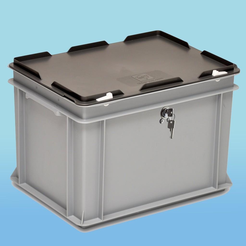 Rako-Behälter mit Schloss |Bodenmass 400 x 300 mm