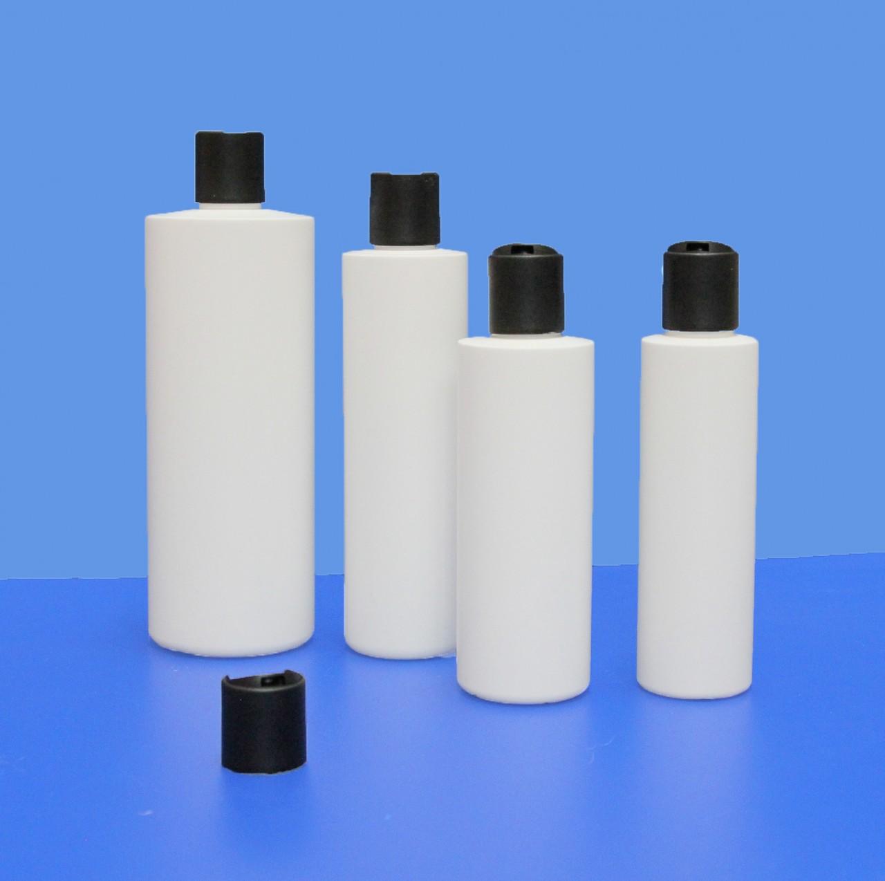 Rundflaschen 150 - 500 ml |mit Disc-Top-Verschluss schwarz