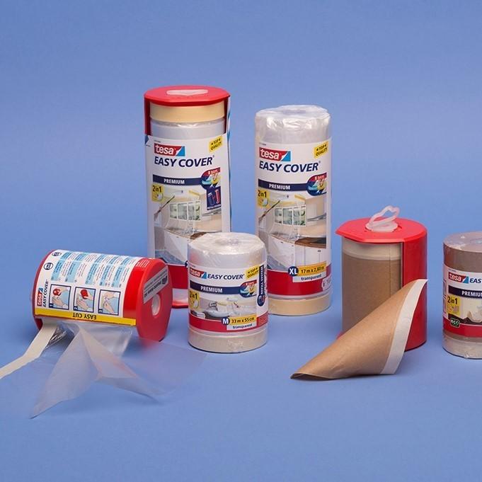 Easy-Cover Abdeck-Folie/Papier |mit integriertem Kreppband