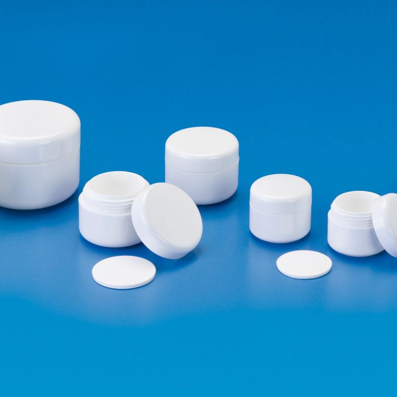 Doppelwandige Crèmedosen