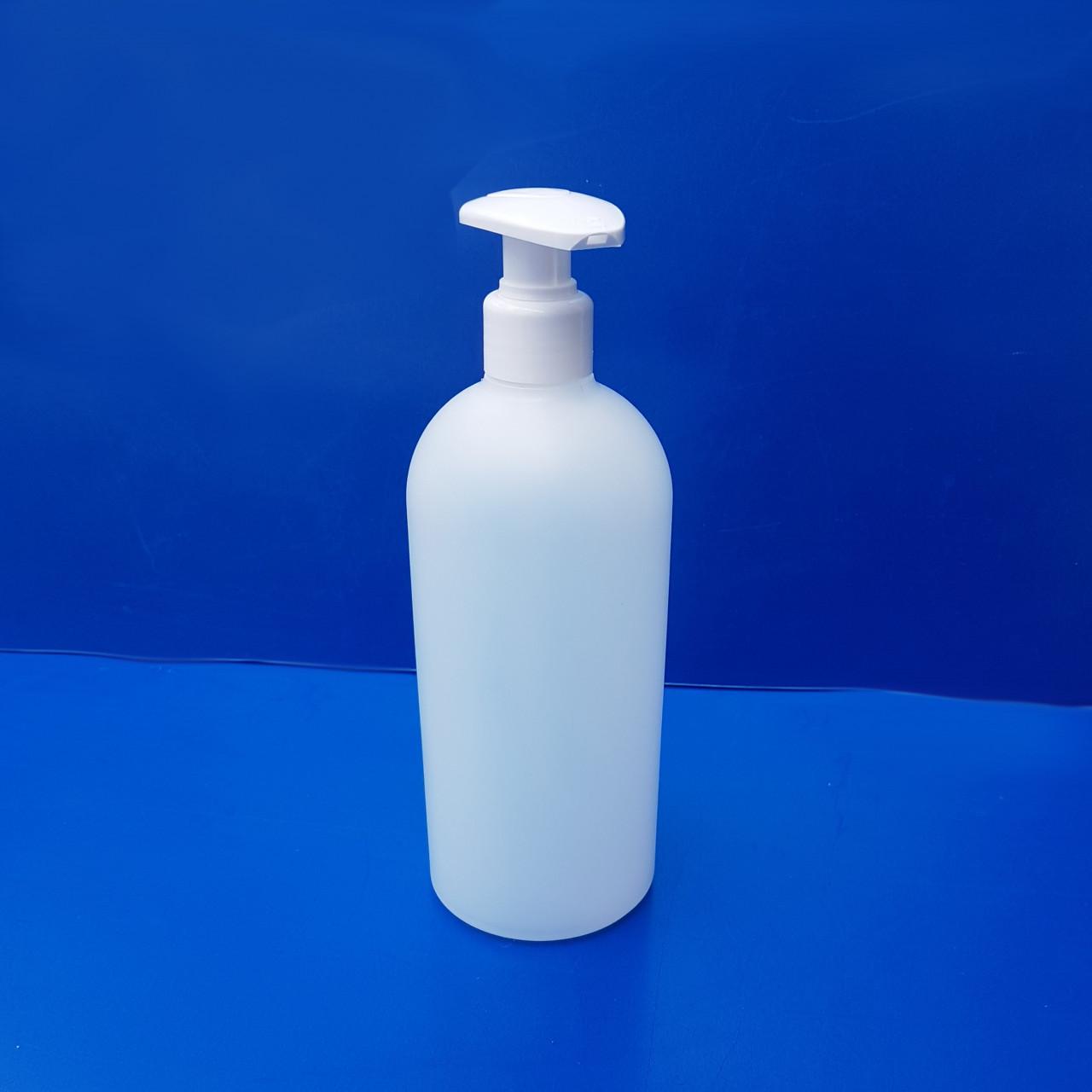 Rundflaschen 500 ml |mit Dispenser-Pumpe
