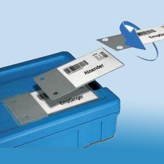 Etikettentasche mit Wendeplatte