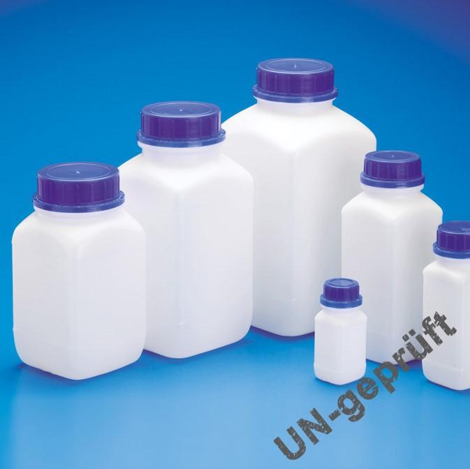 Weithals-Flaschen |mit Originalitätsverschluss, UN-Zulassung