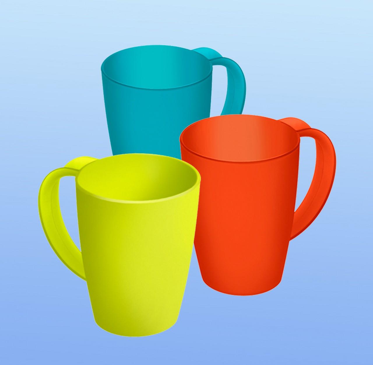 Henkel-Becher farbig |2,5 dl